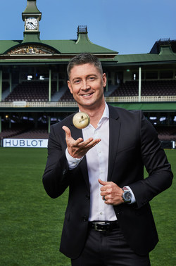 Michael Clarke, Hublot ambassador, with the ICC watch