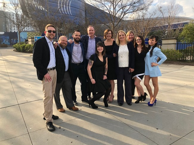 Some of the Impact Partnership's employees attending the Top Workplaces 2019 Dinner.