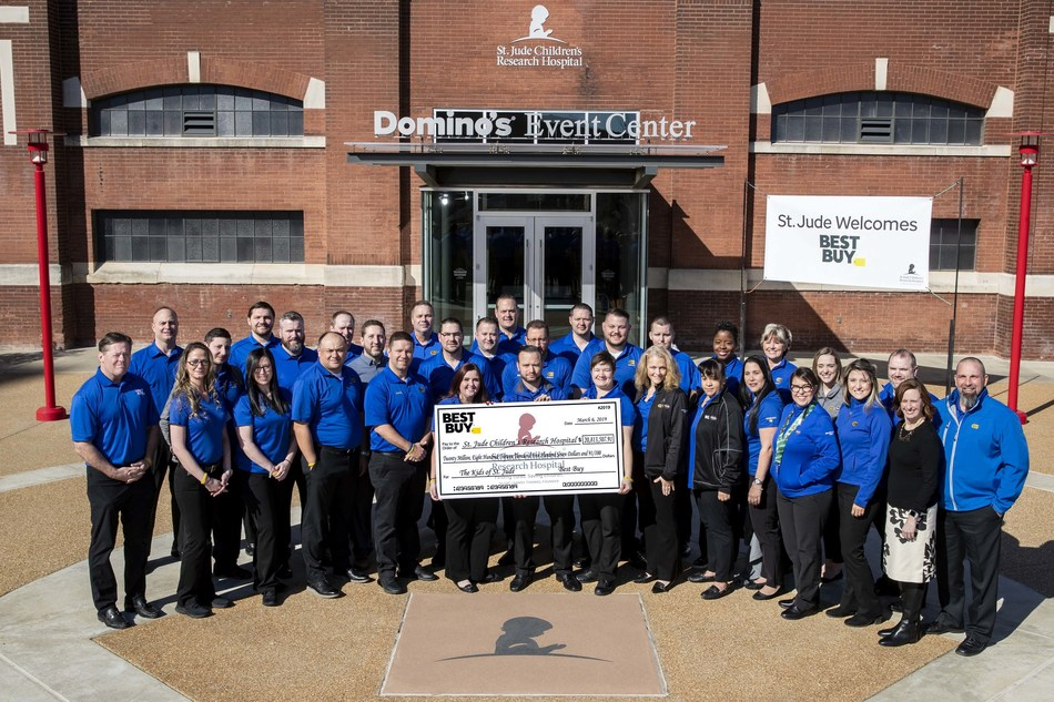 Best Buy employees visit St. Jude Children's Research Hospital on Wednesday, March 6, 2019.