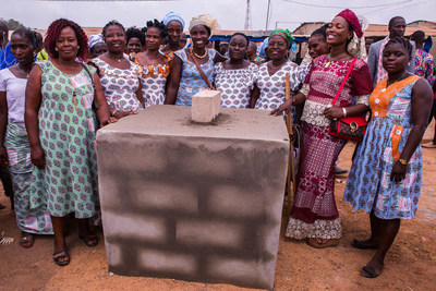 GUEYO, COTE D'IVOIRE (March 7, 2019) – Two days prior to International Women's Day, the first stone was laid on a new marketplace for women-led businesses in the village of Gueyo in Cote d'Ivoire. The new build signifies the DOVE® Chocolate partnership with CARE to empower women in cocoa farming communities. The ceremony was attended by more than 1,000 community members and women entrepreneurs, some of whom will have a new space within the market in which to sell their goods.