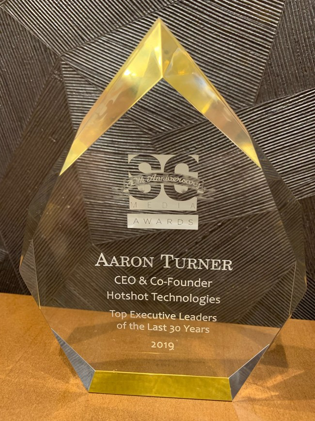 Hotshot CEO honored by SC Magazine as a top executive of past 30 years