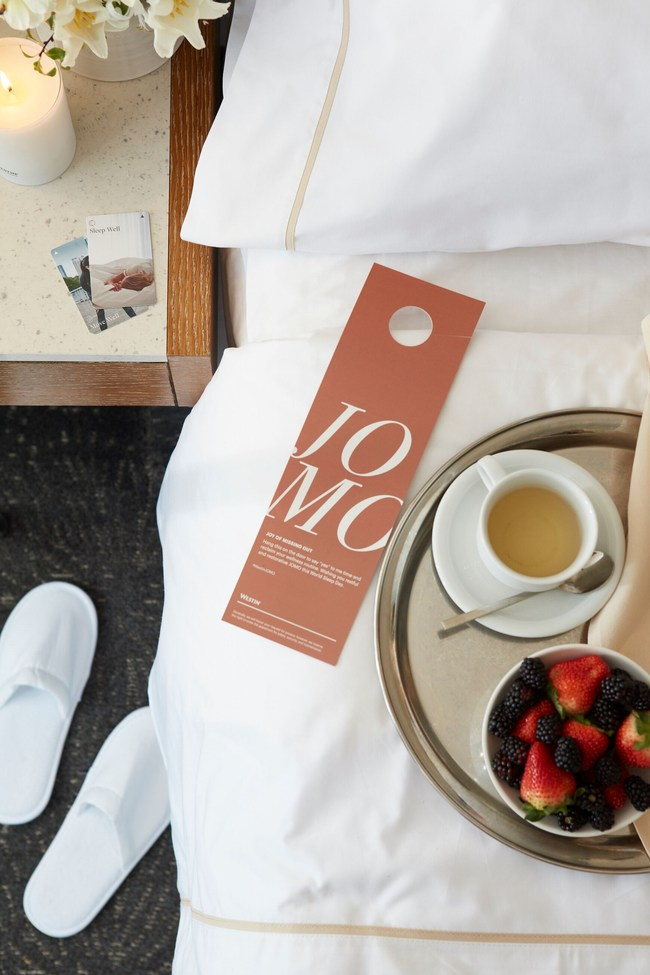 Westin Hotels & Resorts continues to make it easy for travelers to reclaim time for their well-being routine while on the road with custom JOMO doortags - - available at participating hotels around the world - for guests to use and receive specially-curated Sleep Well amenities.