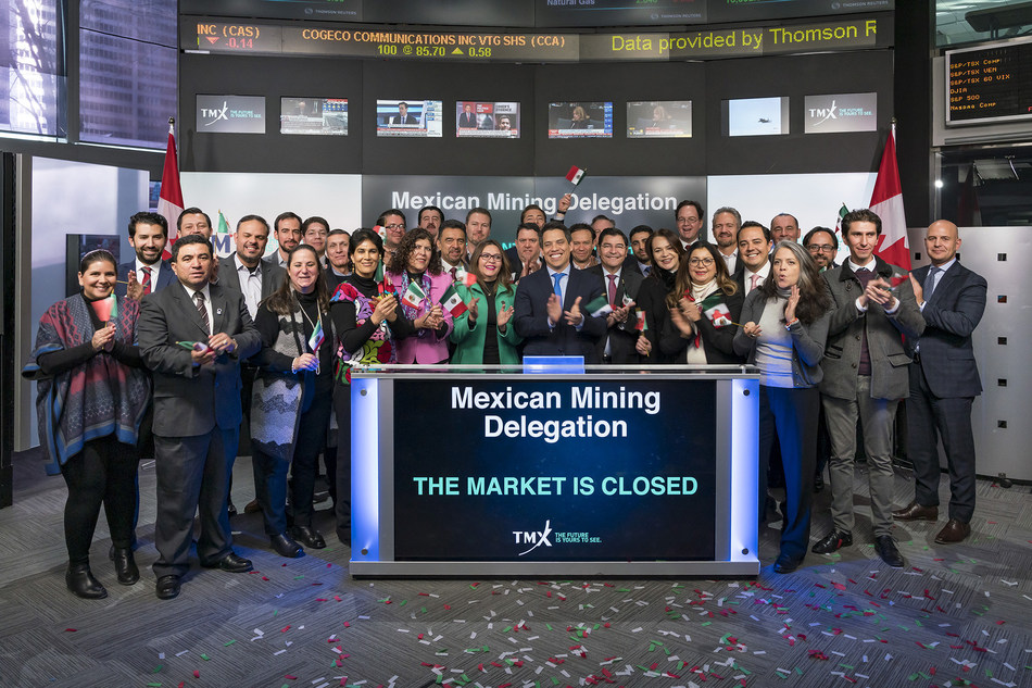 Mexican Mining Delegation Closes the Market (CNW Group/TMX Group Limited)