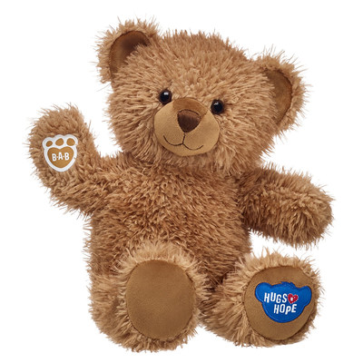 Starting March 7, 2019, for every Hugs N' Hope Bear sold—at U.S. and U.K. Build-A-Bear Workshop stores, and at buildabear.com and buildabear.co.uk—Build-A-Bear will donate one teddy bear to Build-A-Bear Foundation to be given to a child in need.