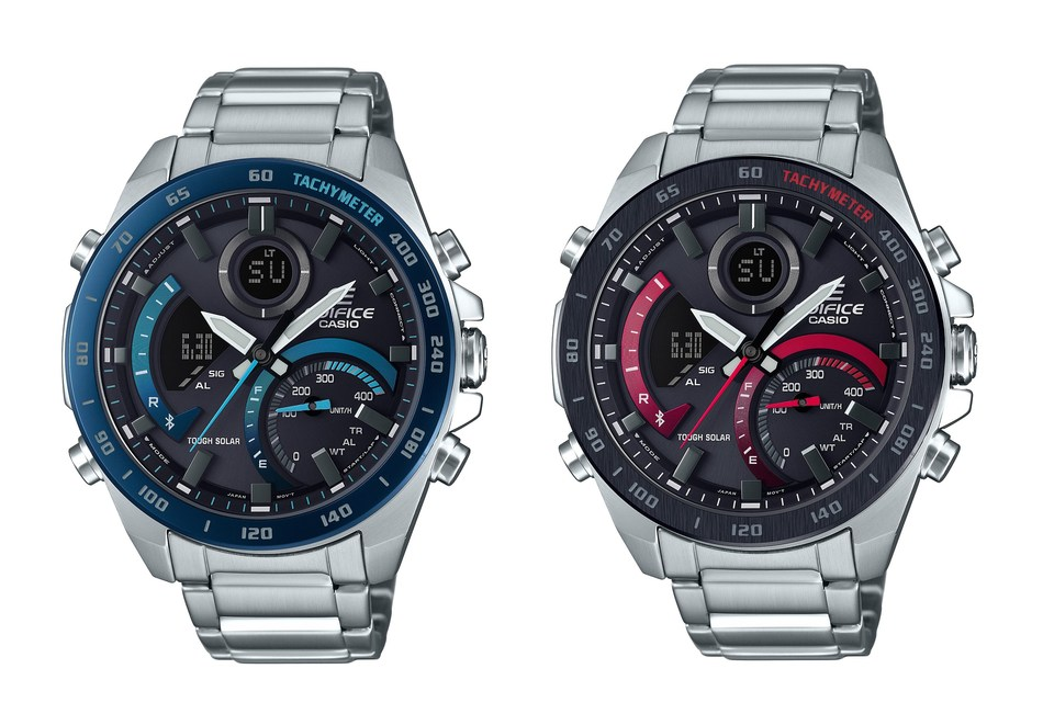 Casio's new EDIFICE ECB900DB offers an attractive design, Tough Solar technology and smart phone connectivity