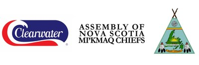 Logos: Clearwater | Assembly of Nova Scotia Mi'kmaq Chiefs (CNW Group/Clearwater Seafoods Incorporated)