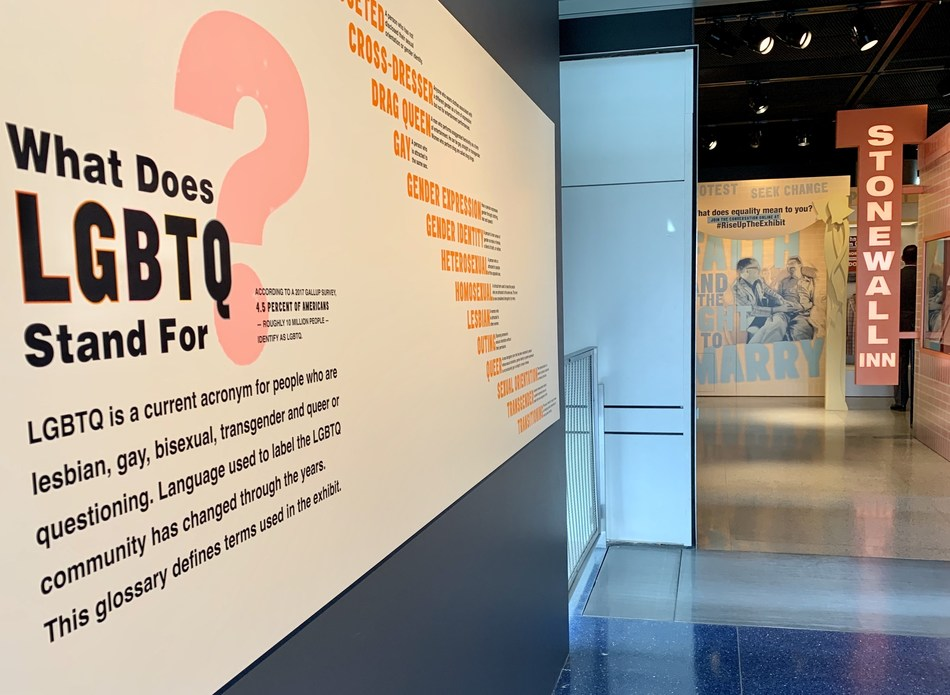 """Rise Up: Stonewall and the LGBTQ Rights Movement"" explores the modern gay rights movement and marks the 50th anniversary of a June 1969 raid of the Stonewall Inn in New York's Greenwich Village. The exhibit opens Friday, March 8, and will be on display through the end of the year at the Newseum in Washington, D.C."
