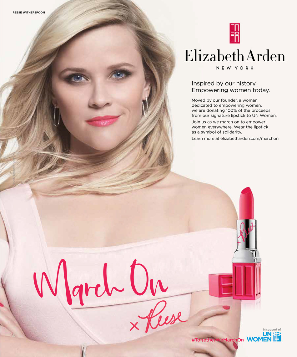 Elizabeth Arden March On Campaign Advertisement with Reese Witherspoon