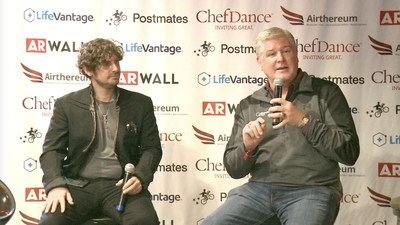 Josh Constantine, Editor of TechCrunch interviews Mark Donohue, Founder of Lifeguides, at Sundance