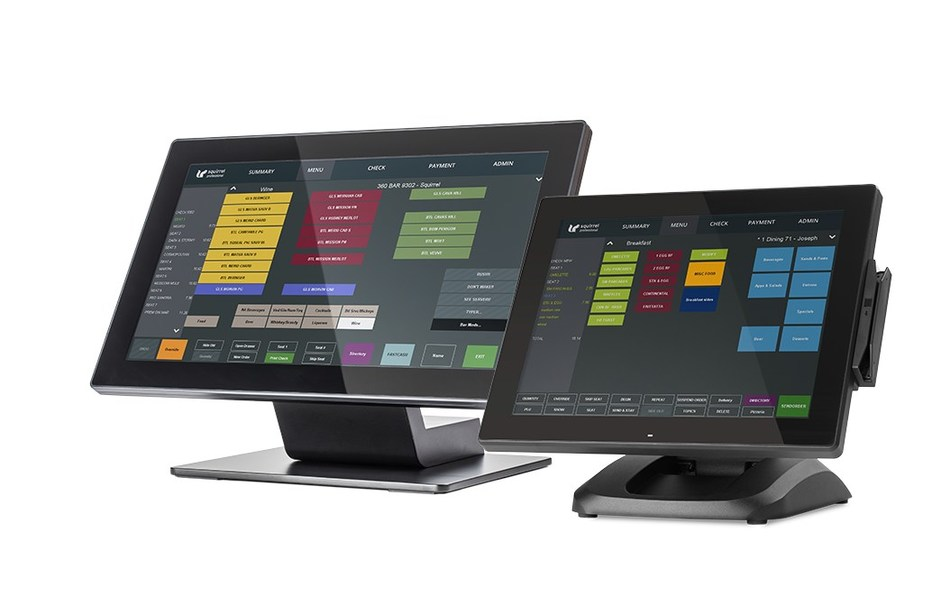 """New Squirrel WS150 and WS150H 15"""" Hospitality POS terminals (CNW Group/Squirrel Systems)"""