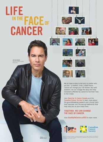 Stand Up to Cancer Canada Canadian Cancer Society Eric McCormack PSA