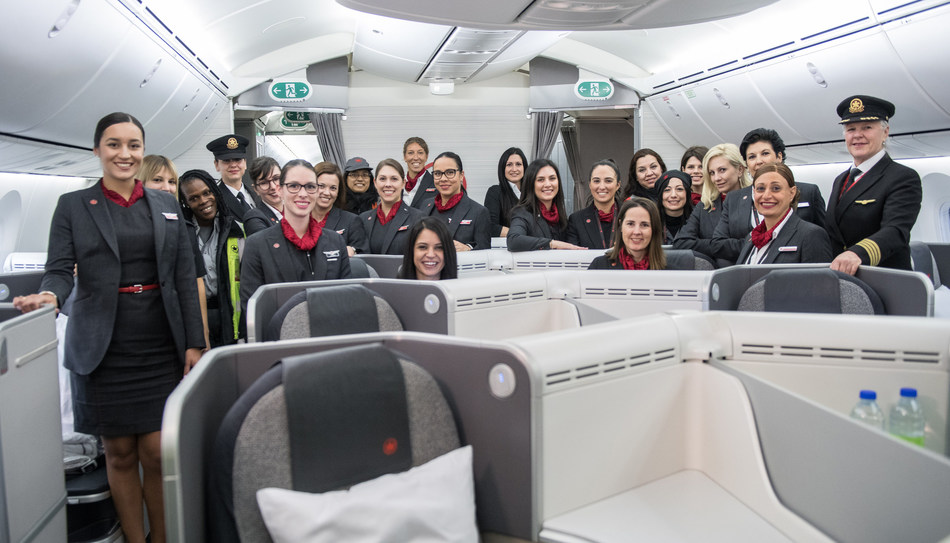 Air Canada today marked International Women's Day 2019. (CNW Group/Air Canada)