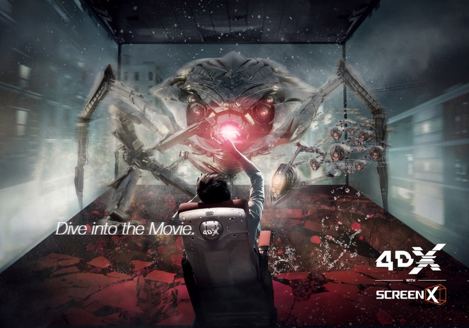 '4DX with ScreenX' Key Visual Image