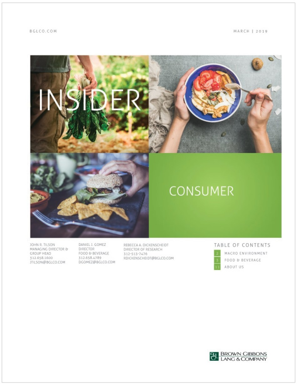 Evolving consumer preferences and rapid technological change are transforming the food supply chain, according to the Consumer Insider, an industry report released by BGL.
