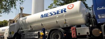 Messer bulk gases truck