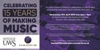 Harris and UWS Celebrate 15 Years of Making Music