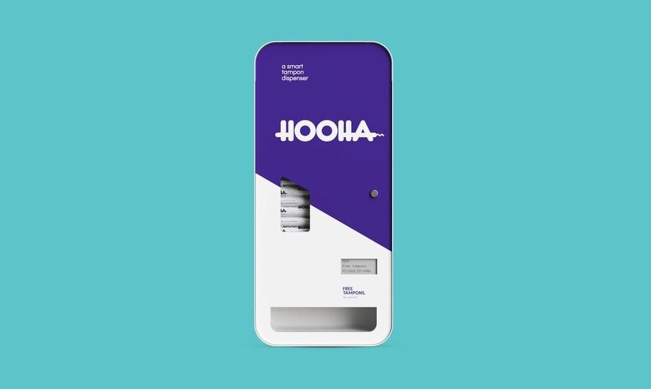 Hooha, smart tampon dispenser.
