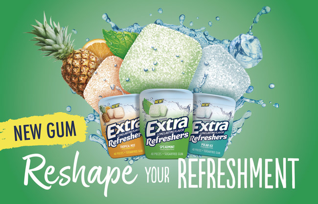 New EXTRA® Refreshers Gum Hits Store Shelves