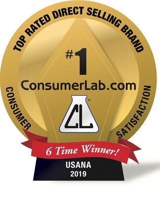 USANA's 2019 ConsumerLab.com Best Direct Selling Brand Award