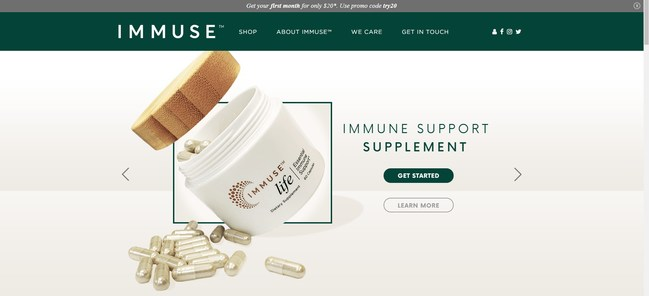 IMMUSE™ New Website Home Page