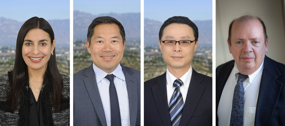 Photographed from left to right: partners Nicole J. Simonian and Evan Yee-Fan Chuck, counsel Jackson Pai, and senior counsel Robert Clifton Burns