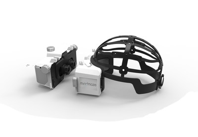 MindMaze's ELVIRA device which integrates immersive virtual reality and neurophysiological signals into a wearable headset. (PRNewsFoto/MindMaze)