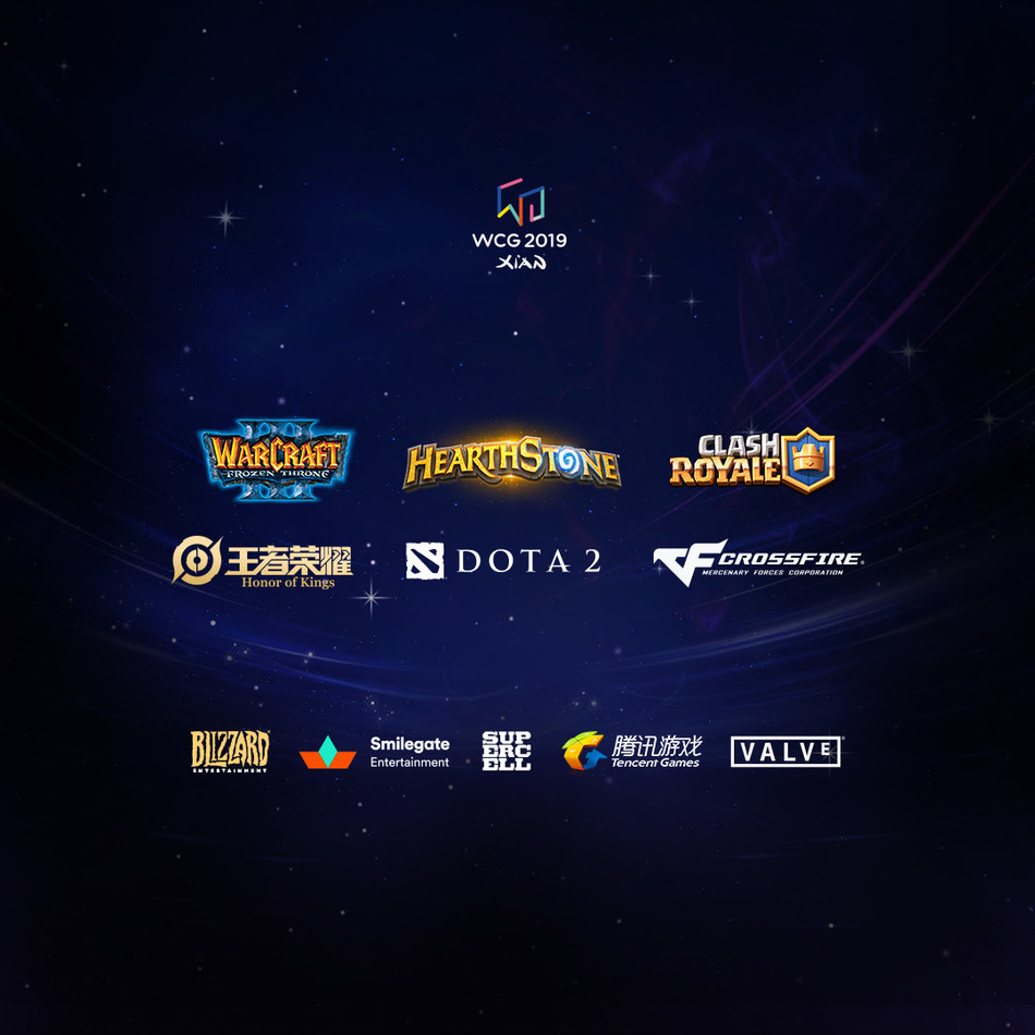 WCG 2019 Games' Titles
