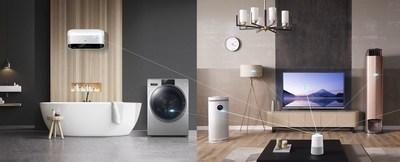 Haier dévoile, à l'AWE 2019, une solution d'habitat intelligent incluant sept marques pour les clients du monde entier, afin de personnaliser le quotidien intelligent (PRNewsfoto/Haier Home Appliances)