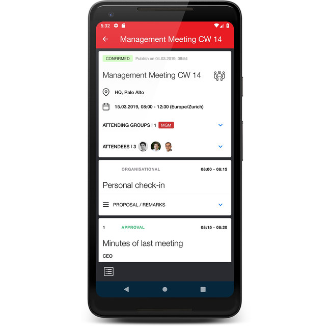 Meeting management by Sherpany now available on Android