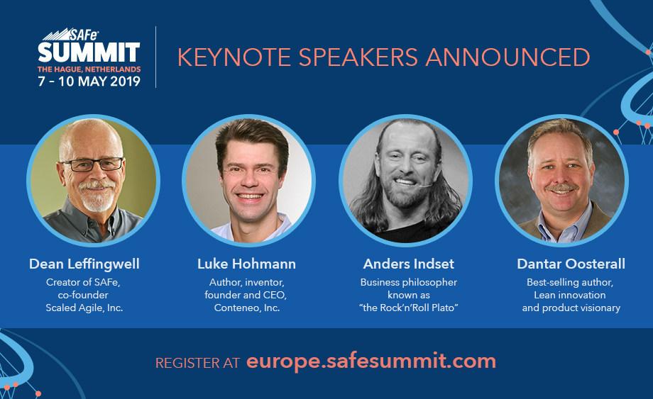 Keynotes announced for 2019 European SAFe Summit