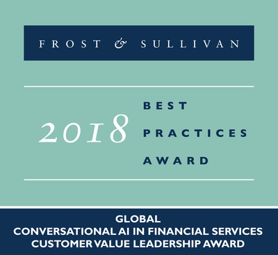 2018 Global Conversational AI in Financial Services Customer Value Leadership Award