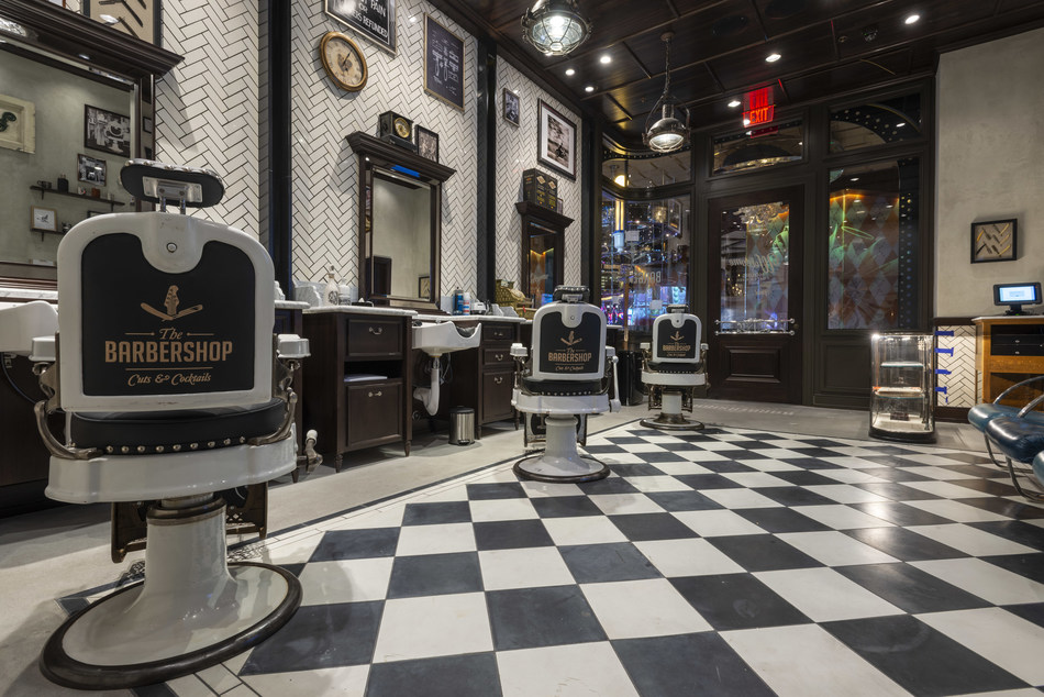 Clique Hospitality's The Barbershop Cuts & Cocktails located at The Cosmopolitan of Las Vegas.