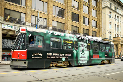 Free St. Patrick's Day service on TTC routes - thanks to Jameson Irish Whiskey (CNW Group/Corby Spirit and Wine Limited)