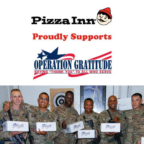 Pizza Inn is an Official Partner of Operation Gratitude