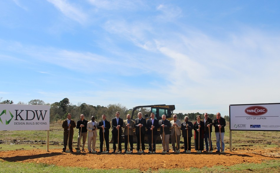 Twin Disc broke ground last Wednesday on a new operations facility in Lufkin, Texas.