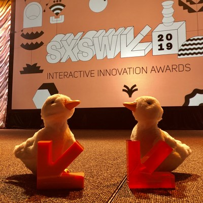 My Special Aflac Duck, a comforting robot designed to help children cope with cancer, took top honors at the 2019 SXSW Interactive Innovation Awards in the People's Choice category and in the Robotics and Hardware category. Aflac is giving a My Special Aflac Duck to all children over 3 years old in the U.S. who have been diagnosed with cancer, free of charge.