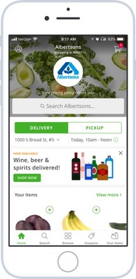 Albertsons alcohol delivery via Instacart
