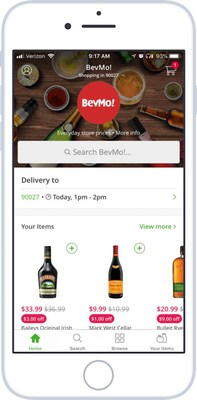 BevMo! alcohol delivery via Instacart