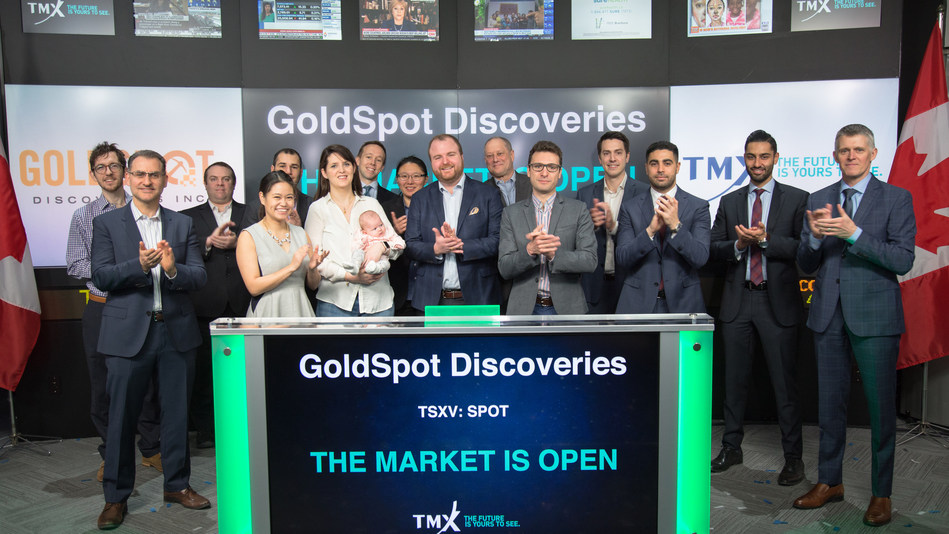 GoldSpot Discoveries Corp. Opens the Market (CNW Group/TMX Group Limited)