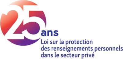 Logo : 25 ans - Loi sur la protection des renseignements personnels dans le secteur privé (Groupe CNW/Commission d