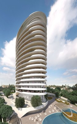 Sixty6 Tower by Pininfarina in Limassol, Cyprus, 17-floors residential tower designed by Pininfarina for Nikhi Group (PRNewsfoto/Pininfarina SPA)