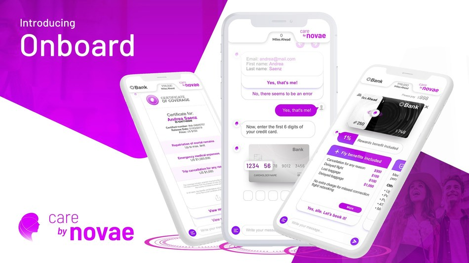Onboard, a mobile platform that allows bank cardholders to activate and visualize their card benefits on their personal device, now comes automatically through novae's mobile, white-label digital solution
