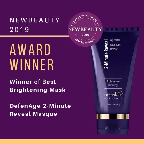"""DefenAge 2-Minute Reveal Masque Wins NewBeauty Award for """"Best Brightening Mask"""""""