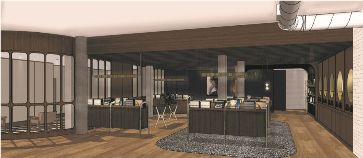 Artist's rendering of Prairie Records, Banff, Alberta, design by FRANK Architecture & Interiors (CNW Group/Westleaf Inc.)