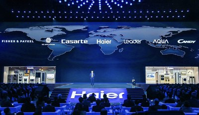 Haier anuncia estratégia global multimarcas de lares inteligentes antes da AWE 2019. (PRNewsfoto/Haier Home Appliances)
