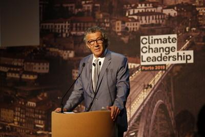 """Gérard Bertrand在""""气候变化领袖:葡萄酒行业的解决方案""""上发言"""