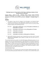 Wallbridge Intersects 2.55 g/t Gold Over 20.01 Metres Confirming Continuity of Gold-Bearing Structure at Beschefer (CNW Group/Wallbridge Mining Company Limited)