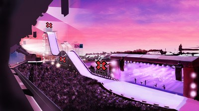 X-Games rendering - Stampede Park (CNW Group/Tourism Calgary)