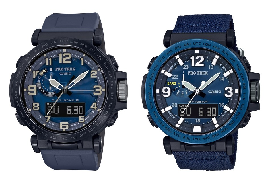 Casio's new PRO TREK PRG600YB-2 and PRW6600Y-2 timepieces boast enhanced functionality and a water inspired design.