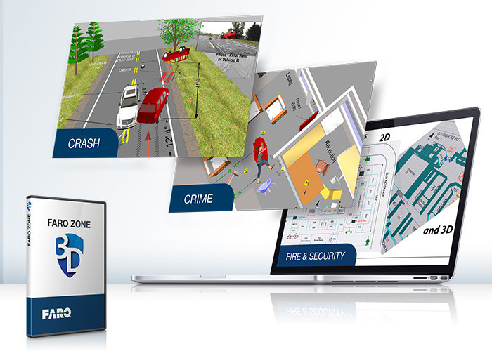 FARO Zone 3D 2019 Software integrates advanced functionality that brings forensics presentations to life in the most persuasive and powerful way.